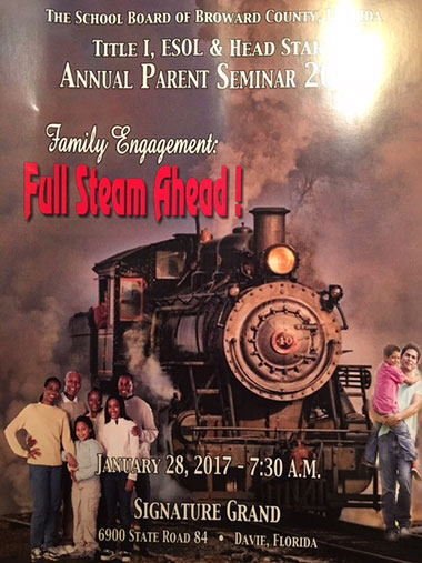 Broward School Board Annual Parenting Seminar at the Signature Grand 2017