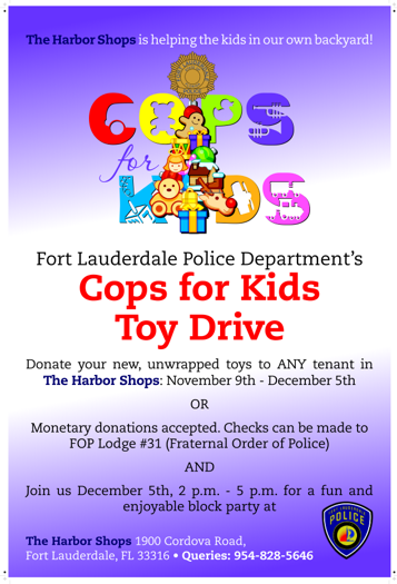 Cops for Kids - Toy Drive